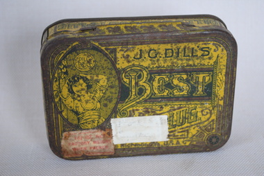 Tobacco Tin, J.G. Dill's Best Cut Tobacco, Estimated date: 1890