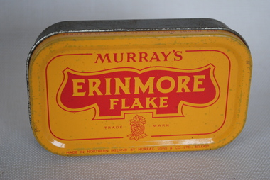 Tobacco Tin, MJurray Sons & Co. Ltd, Erinmore Flake Pipe Tobacco, Estimated date: 1930's