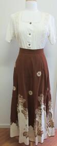 Skirt, batik, 1970s