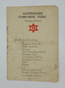 Knitting Booklet, Australian Comforts Fund