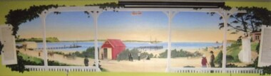004320 Photographs - Mural in Inlet Hotel, Inverloch