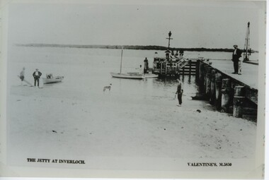 001290 - Photograph - circa 1920's - The Jetty at Inverloch (Pier) - Valentines M5850 - from Jill Harrop