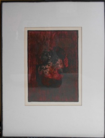 Painting, Grahame King, Red and Black, 1965