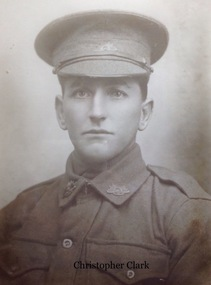 Protograph of WW1 soldier Christopher Clark, Portrait WW2 Soldier Christopher Clark, Approx 1916