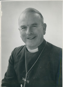 Photograph, The Right Reverend RE Davies Bishop of Tasmania, 1977