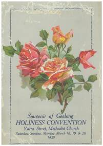 Program, Souvenir of the Holiness Convention, 1939