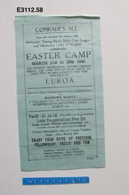 Pamphlet - Easter Camp 1940