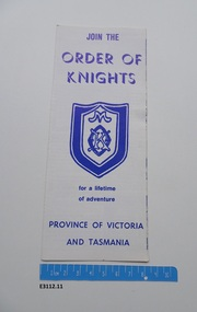 Pamphlet - Order of Knights
