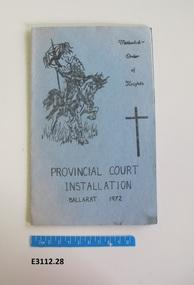 Program, Methodist Order of Knights Installation program