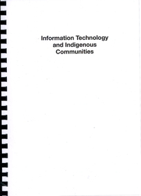Book, Information technology and Indigenous communities, 2013