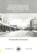 Victorian Historical Journal : 190 Volume 48 (4), 1977
