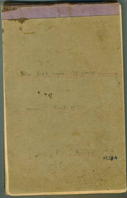 Notebook, New Herbarium Specimens. Genus Eucalyptus, 1953-1954, 1954