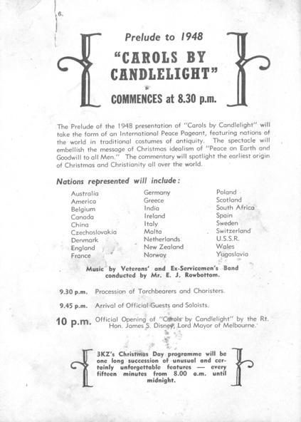 Text - 3KZ Carols by Candlelight [program] (1944-1968