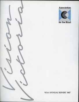 Vision Victoria written on side.  AFB logo on white background in top left hand corner.