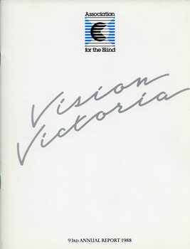 """""""Vision Victoria"""" in silver writing with AFB stylised logo centered at top of page"""