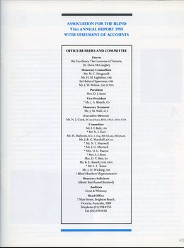 List of office bearers and committee members