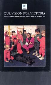 Elsie Germon talks to primary school children about being blind.