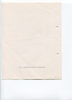 Blank white page with printer information at the base of the page