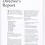 Director's report including names of directors and significant changes