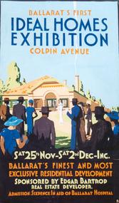 Gouache, Don Refshauge, 'Ideal Homes Exhibition' by Don Refshauge, c1935
