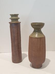 Ceramic, Two Pottery Vases by Mark Reid