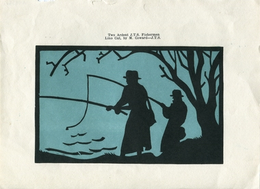 Work on paper, 'Two Ardent J.T.S. Fishermen' by Max Coward