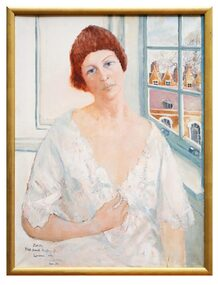 Oil Painting, Judith 3/68 South Audley St London, 1975