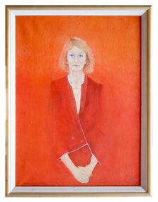 Oil Painting, Helen with Fugitive Smile, 1989