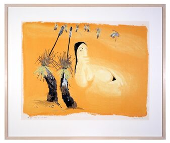 Screenprint, Leda and the Emu, 1980