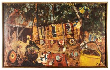 Oil Painting, Peter Laycock Pottery, 1969