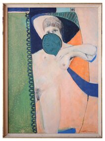 Oil Painting, Judith Nude, 1974
