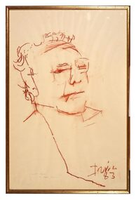 Conte Drawing, Portrait of Clif, 1983