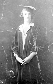 Photograph, Miss Lille Louisa (Lil) Willaton at time of graduation