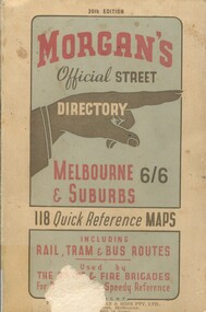 Book, Morgan's Official Street Directory, c1940s