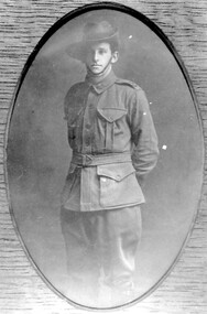 Photograph, George Leslie Rayment of Surrey Hills, AIF serviceman in WW1