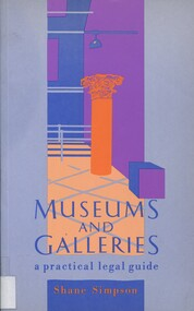 Book, Museums and galleries: a practical legal guide, 1989