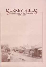 Book, Surrey Hills: in celebration of the centenial 1883-1983, Reprinted November 1992