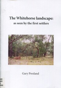Book, The Whitehorse landscape as seen by the first settlers, 2011