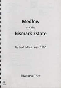 Book, Medlow and the Bismark Estate by Prof. Miles Lewis, 1990