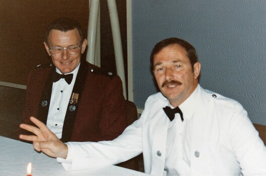 Two soldiers in formal uniform