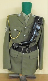 Army jacket with belt and bandolier