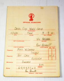 Score card, 26-Dec-83