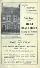 34th Report of the Adult Deaf and Dumb Society of Victoria 1918