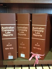 Journal series, Australian company law reports [Australian corporations and securities reports], [1977]