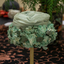 Pale Green Silk & Gauze Floral Hat