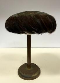 Iridescent Feather 'Saucer' Hat