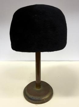 Black Felt and Grosgrain Hat