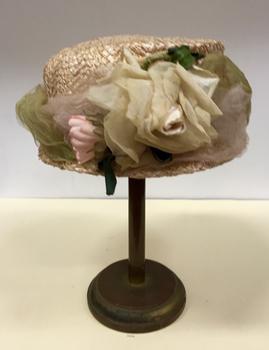 Cream Straw & Silk Hat