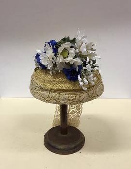 Conical Straw & Silk Hat