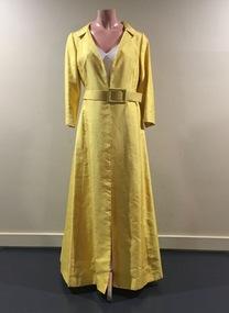 Yellow Silk Evening Coat